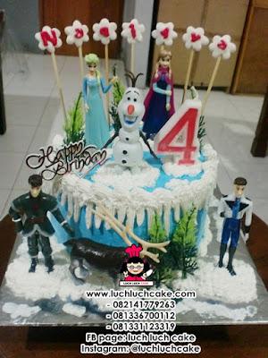 Frozen Birthday Cake Daerah Surabaya - Sidoarjo