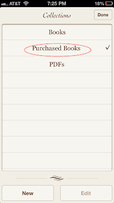 Re-download purchased books on iBooks