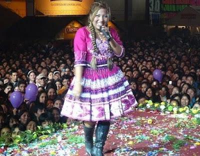 Rosita de Espinar en concierto