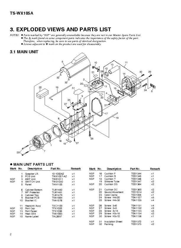 Pioneer ts-wx105a схема