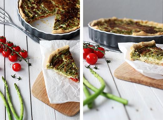 Rezept Spargelquiche mit Tomaten vegetarisch Holunderweg18