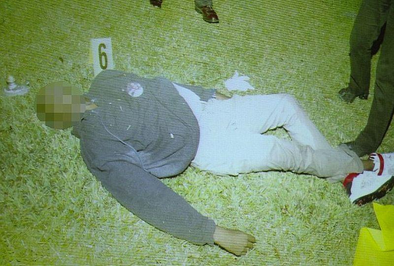 Trayvon Martin crime scene photo shown to jury