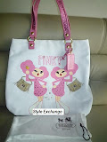 COACH POPPY PINKY SLIM CANVAS SEQUIN TOTE 15544