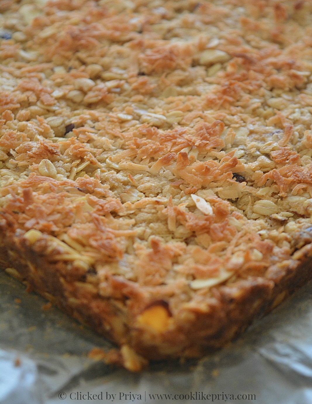 Eggless Oats Coconut Fruit & Nuts Bar