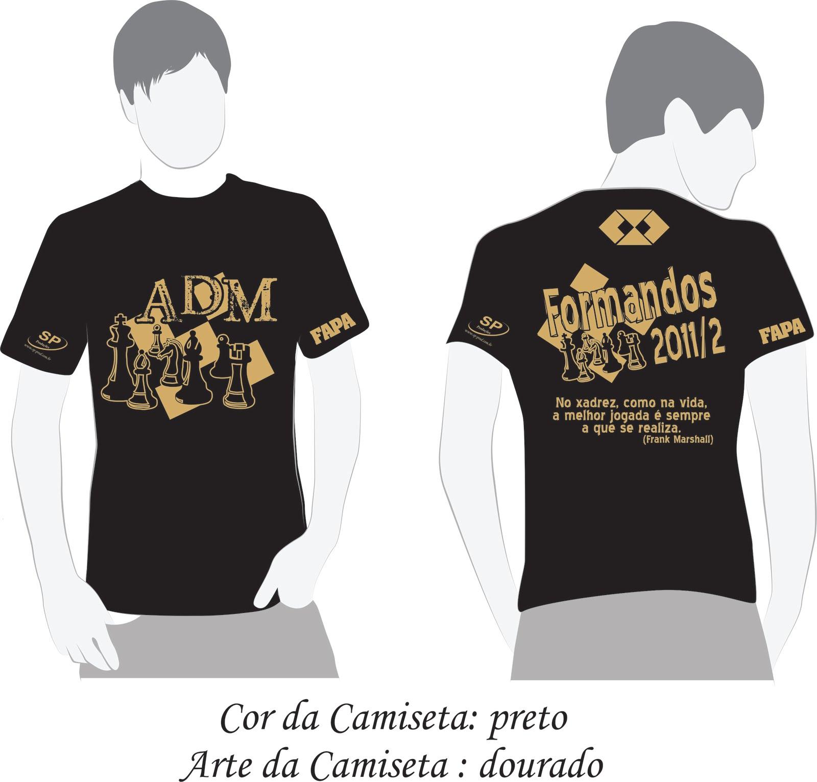 Favoritos Formandos ADM FAPA 2011/02: Modelos de Camiseta MZ33