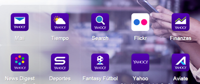 Incio sesion Yahoo aplicaciones moviles