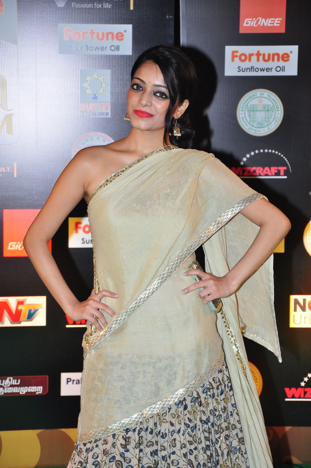 janani iyer glamorous in saree-HQ-Photo-5
