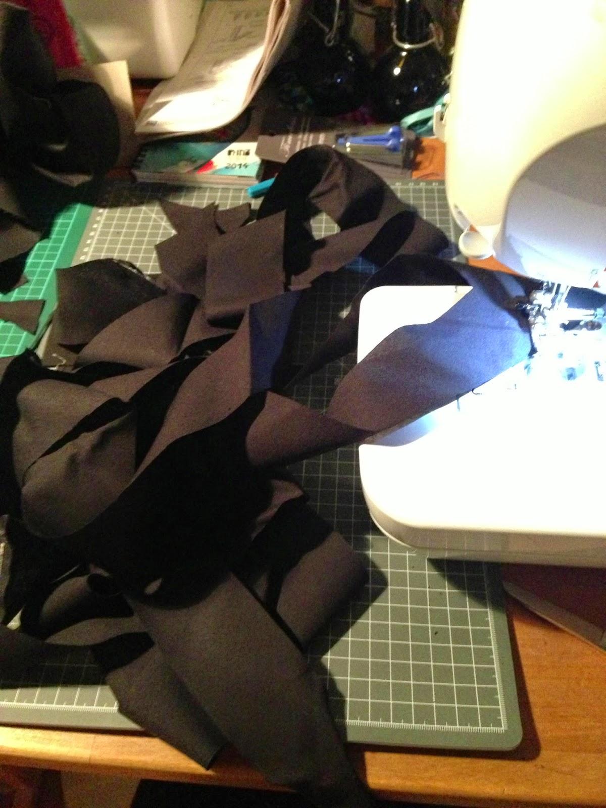 Binding, Baumwolle, schwarz, Schrägband