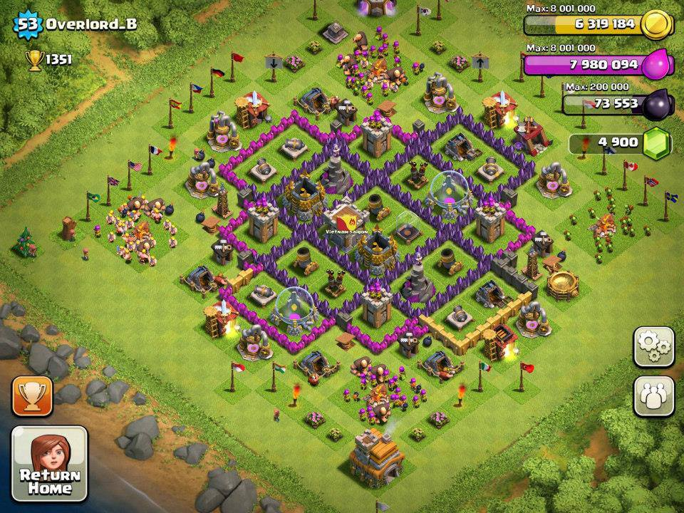 Clan valedores por gaming hero coc dise 241 o de aldeas