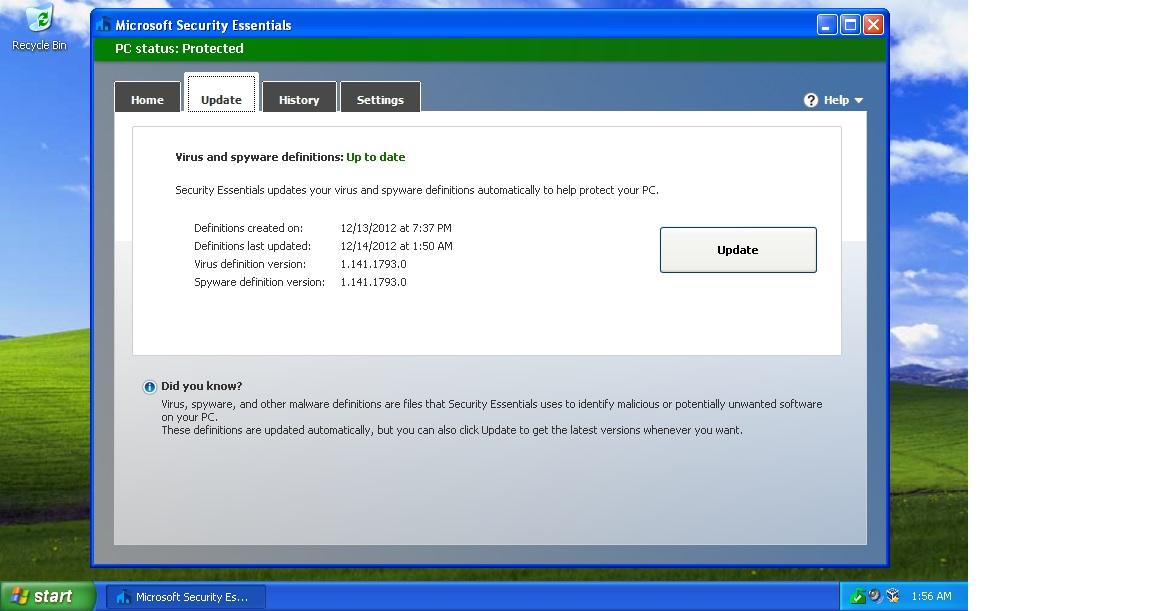 Update Windows Defender manually in Windows 10/8/7