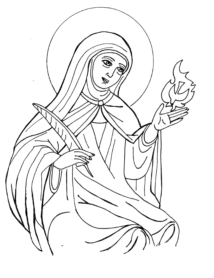 Saints Coloring Pages St Coloring Pages
