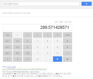 Use Google search as a calculator