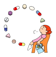 Visual representation of how taking pills for weight loss can be hard on our bodies and lead to frustration.