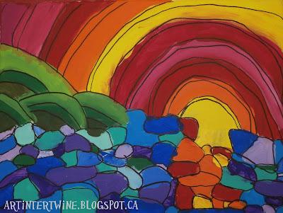 Heather Brown Juicy Sunset art activity for kids