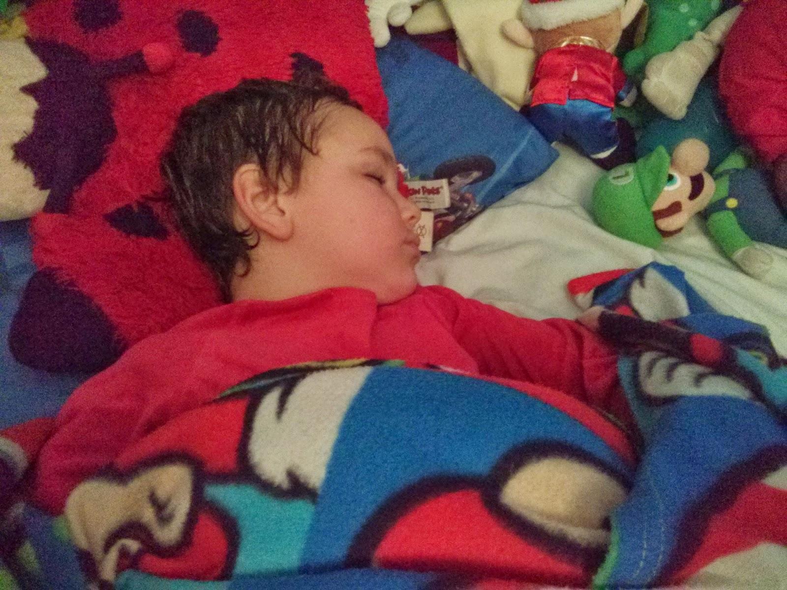 Big Boy in Big Boy's bed
