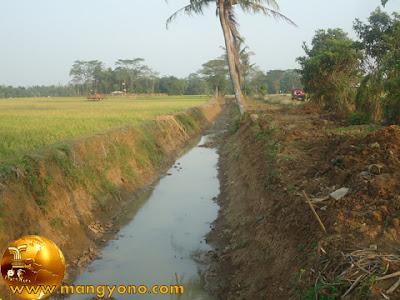Pengerukan sungai / selokan Cimacan