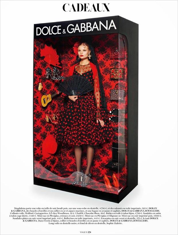 Vogue Paris Dicembre 2014 | dolce & gabbana