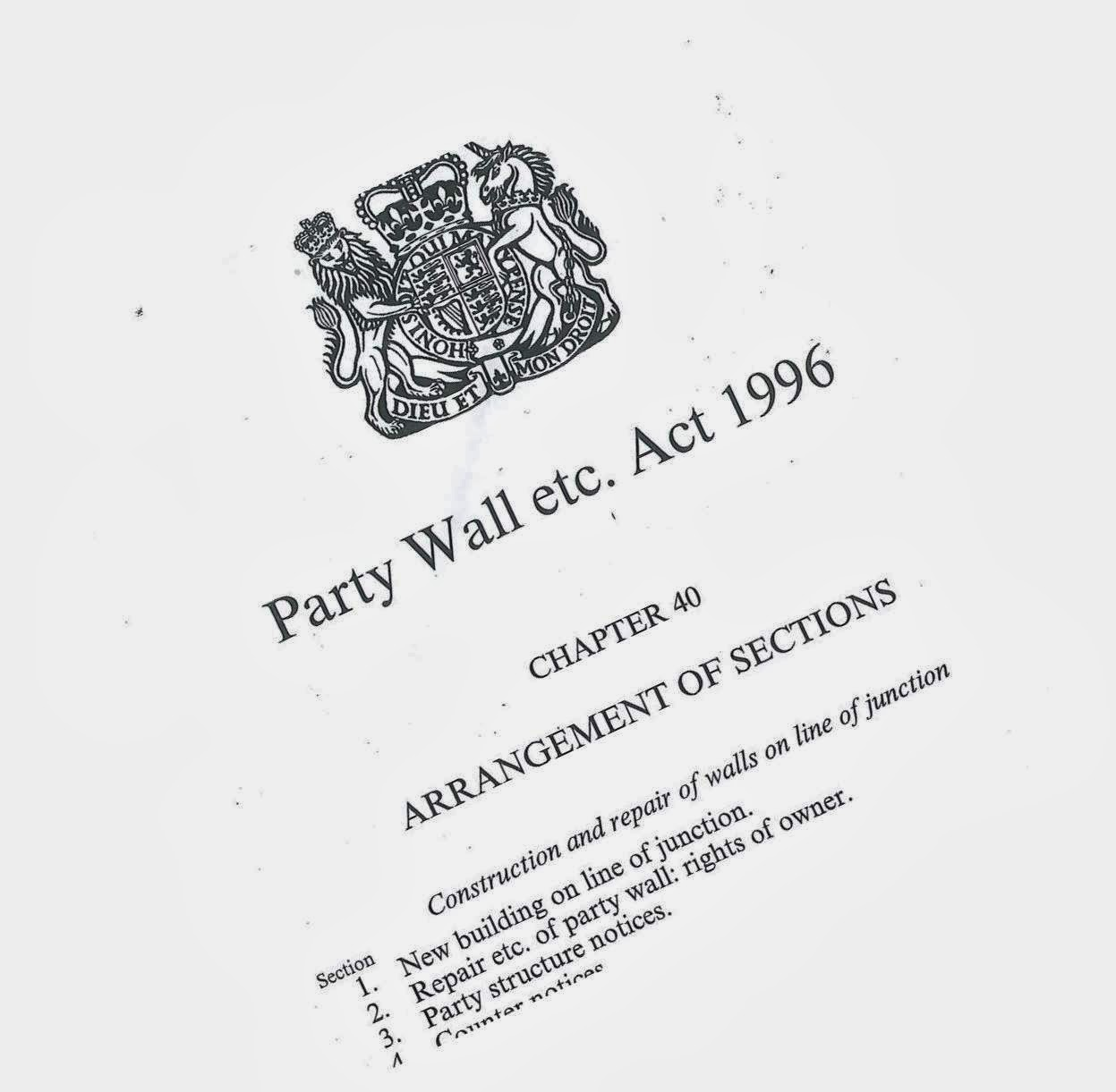 Surveying property party wall etc act 1996 much more for Party wall agreed surveyor