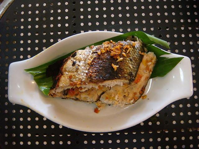 Sinugba (inihaw or grilled) Bangus Filipino Food