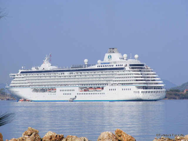 Crystal Serenity Cruise Ship In Fethiye