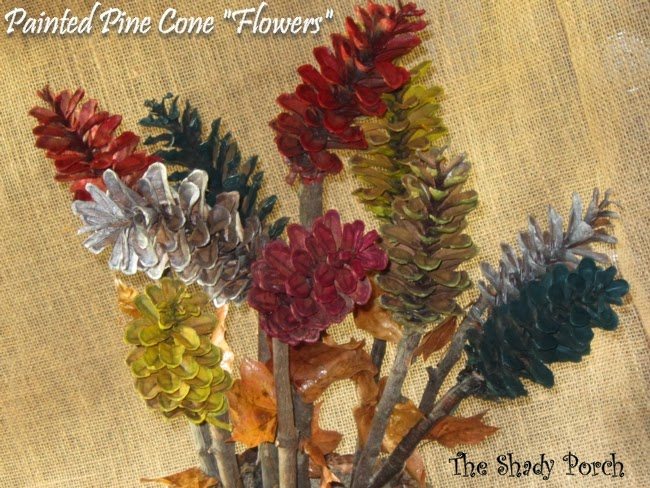 Pine Cone Flowers #craft #tutorial #howto #naturalelements