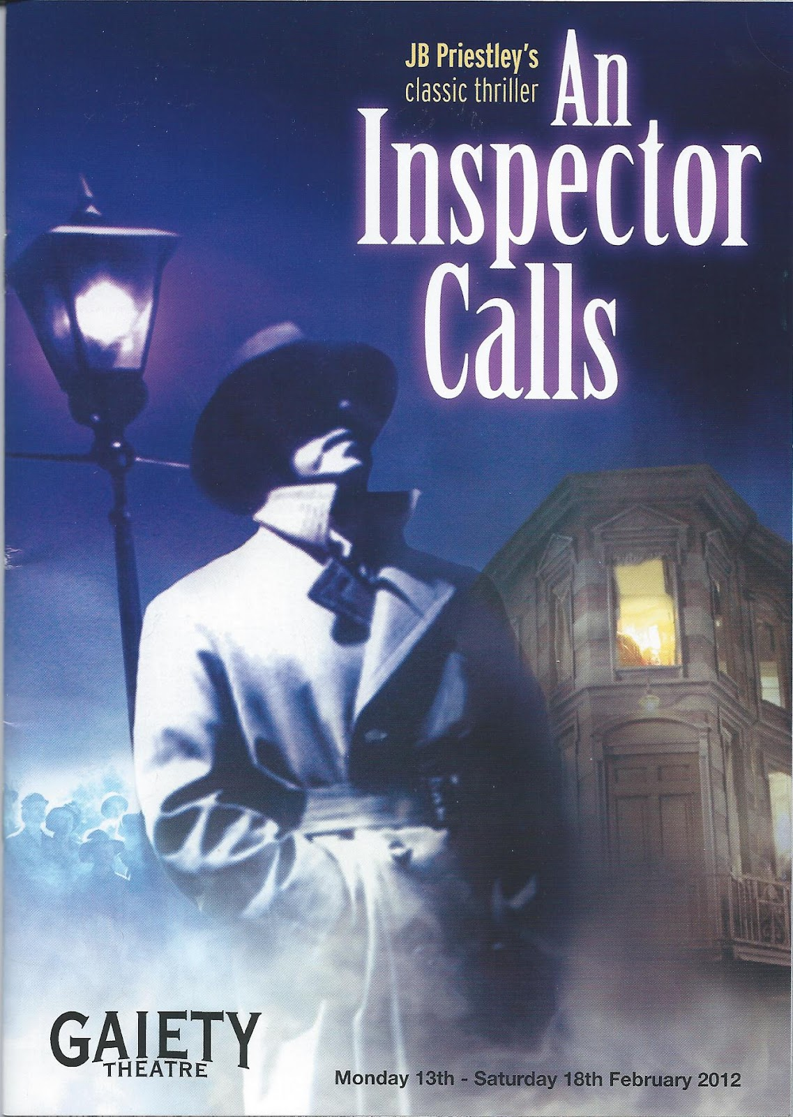 the play an inspector calls 2 essay An inspector calls essaysan inspector calls by jb priestley an inspector calls by j b priestley demonstrates many important issues throughout the play such as the importance of families.