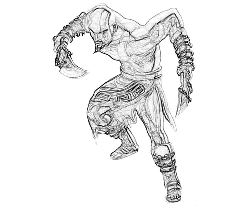 God of War Ascension Kratos Skill Coloring Pages title=