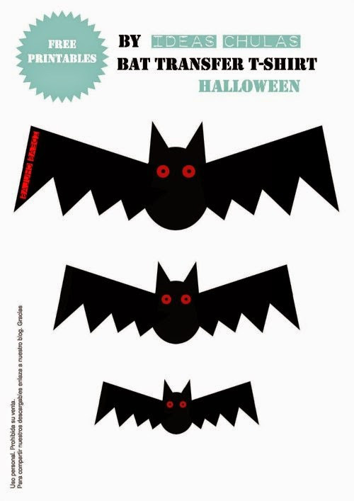 Diseño imprimible de murciélagos