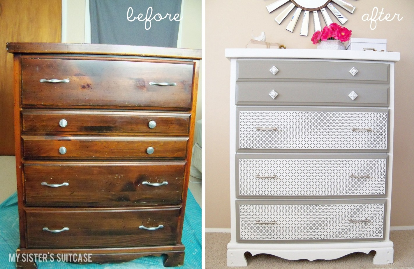 remodelaholic decorative dresser makeover