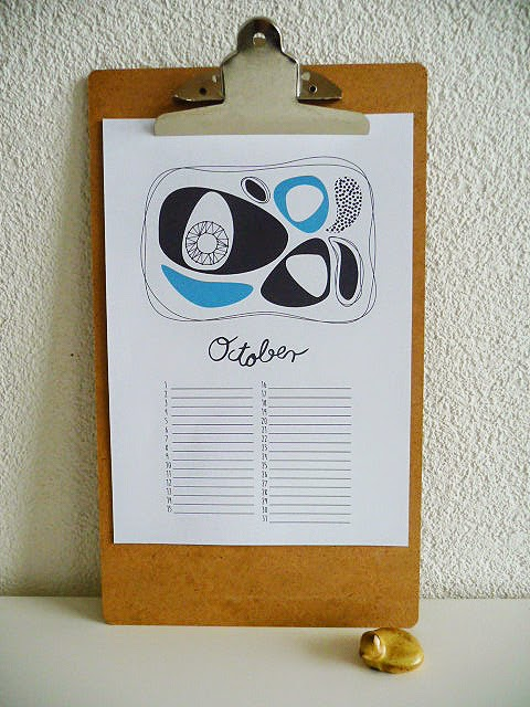 Perpetual Birthday Calendar, copyright©Maike Thoma by Pattern Jots 2014