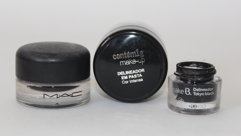 compara%25C3%25A7%25C3%25A3o delineadores 1 Comparando Fluidline Mac, Delineador em Pasta Contm 1g e Delineador Tokyo O Boticrio