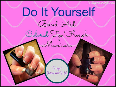 Frugal mom and wife diy band aid colored tip french manicure diy band aid colored tip french manicure solutioingenieria Images