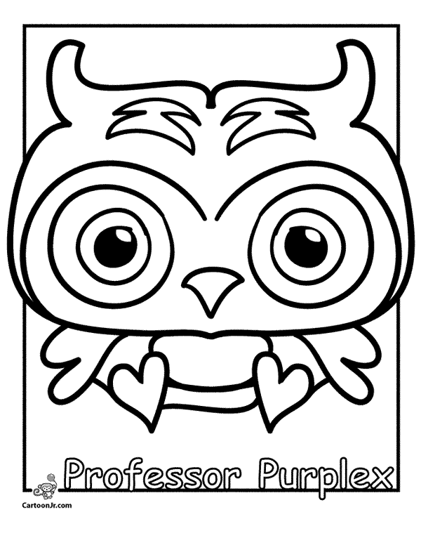 Pooky Mioshi Free Colouring Pages Moshling Colouring Pages