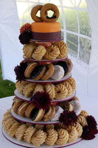 Wedding Talk Donut Wedding Cake