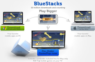 Diagram of BlueStack GamePop Console virtual app