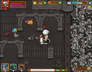 Dungeon Rampage gameplay screen facebook game