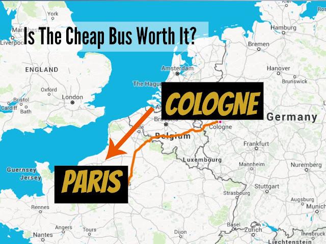 bus ride cologne to paris