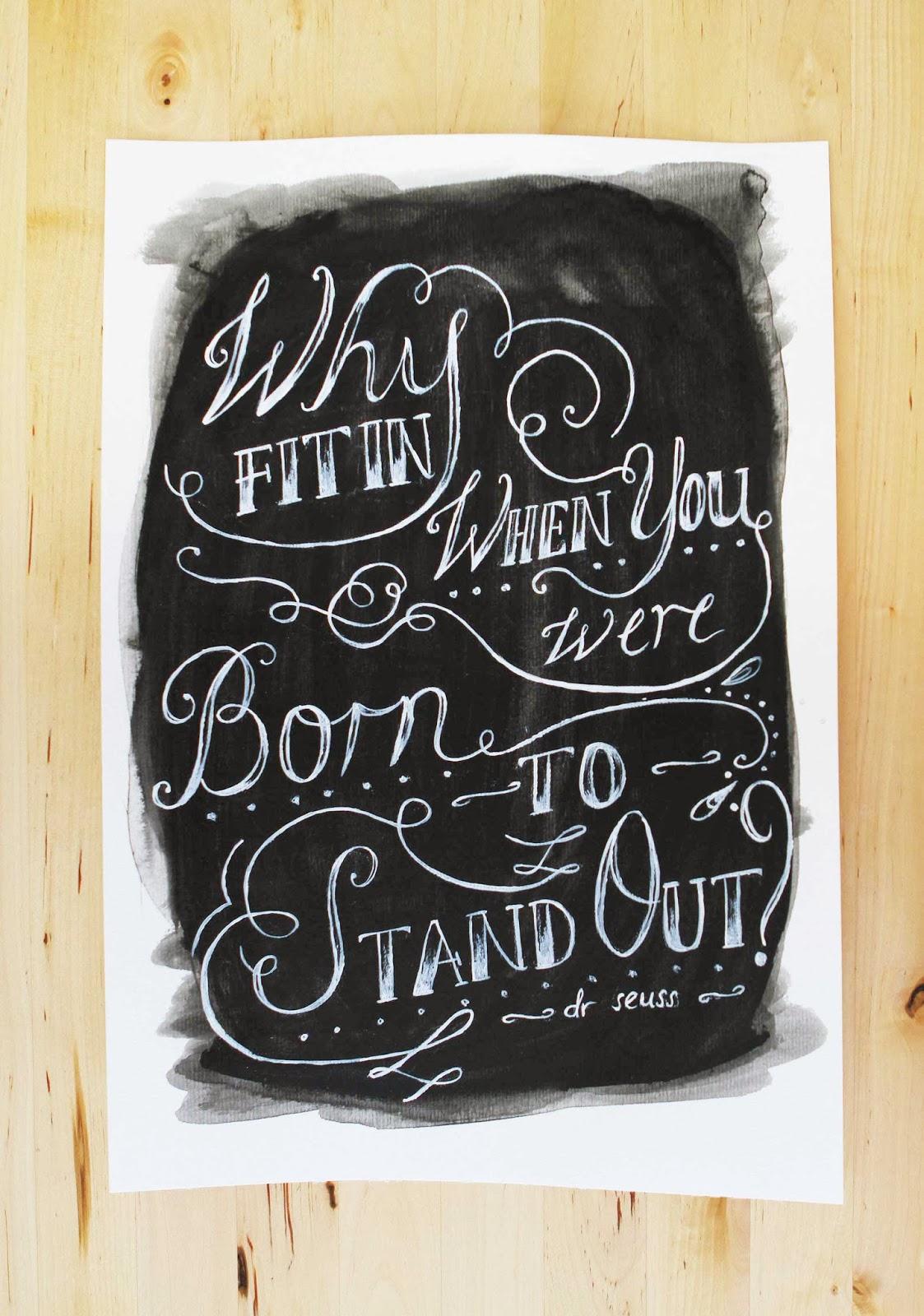chalkbaord lettering vintage writing original painting artwork sail and swan