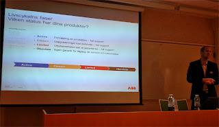 ABB seminarie om underhåll och livcykelanalys mm