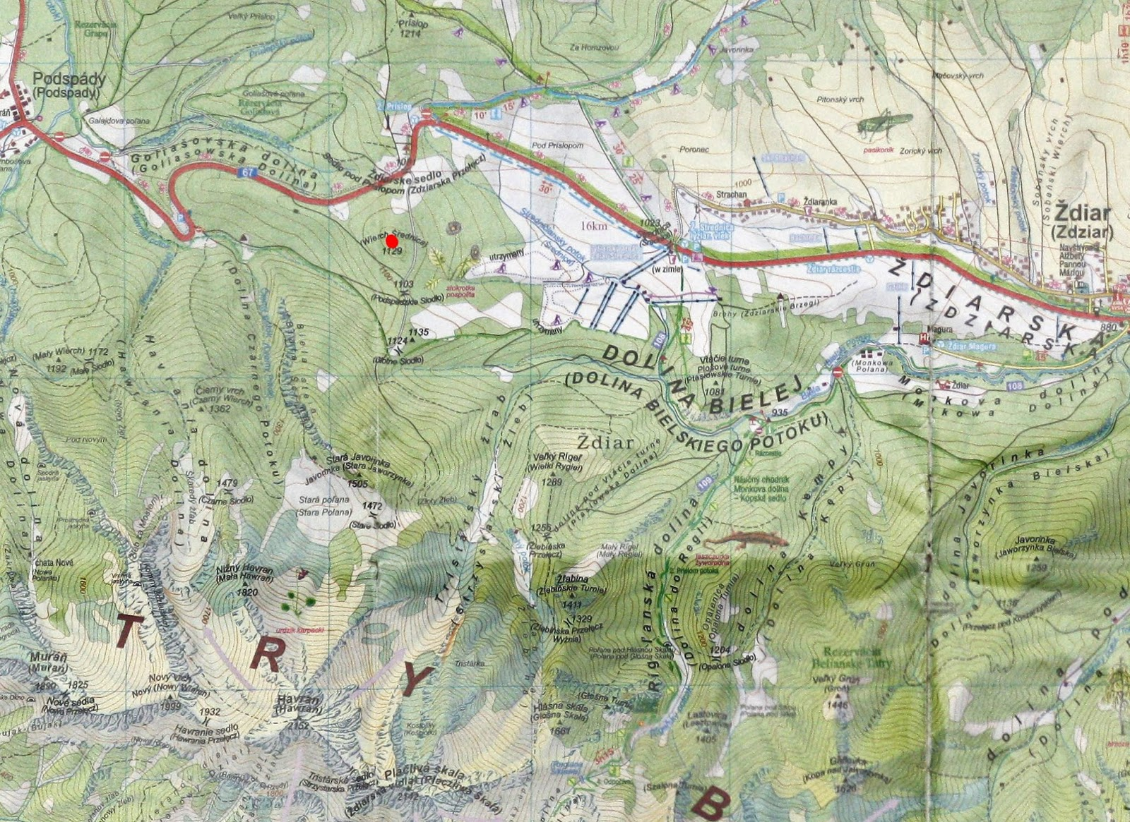 Długi Wierch - mapa