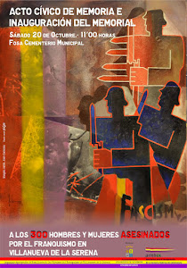 PROXIMO 20 OCTUBRE 2012, 11 horas. INAUGURACION MEMORIAL VICTIMAS