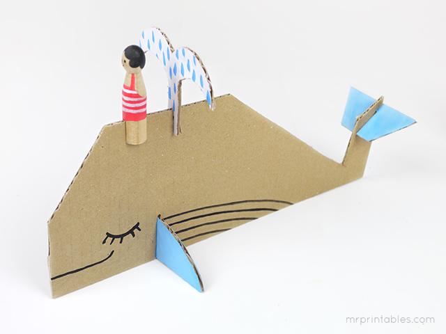 Decorar en familia: Animales marinos de cartón descargables13