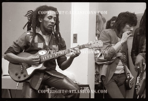 Bob Marley e Ron Wood