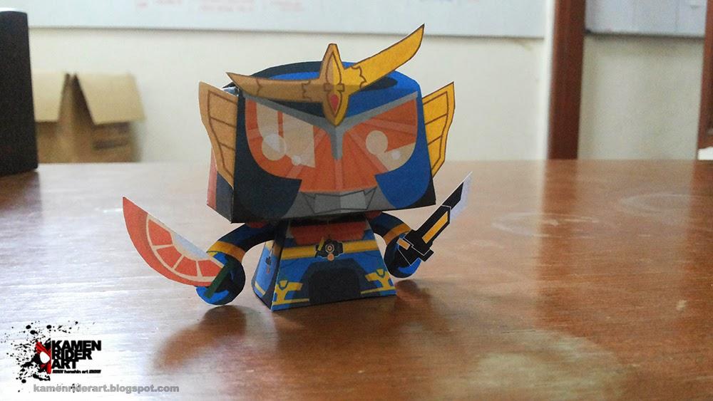 Kamen Rider Gaim Paper Toy