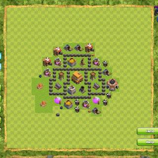 Base Clan War TH4 2