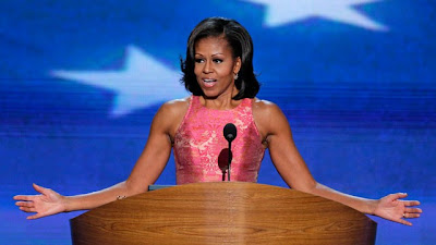 Michelle Obama Speaks at DNC