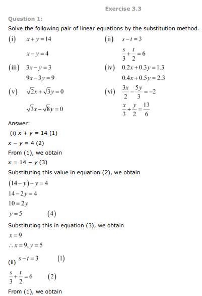 ncert solutions of class 10th maths