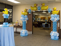 Balloon Bouquets For Boy Baby Shower