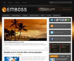 Emboss WordPress Template