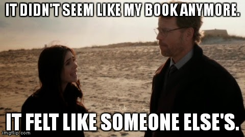 """It didn't seem like my book anymore. It felt like someone else's."" Lily Collins and Greg Kinnear star in STUCK IN LOVE."